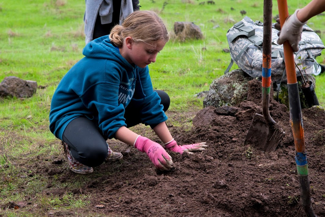 Kenwood Kids Help with Montini Tree Planting