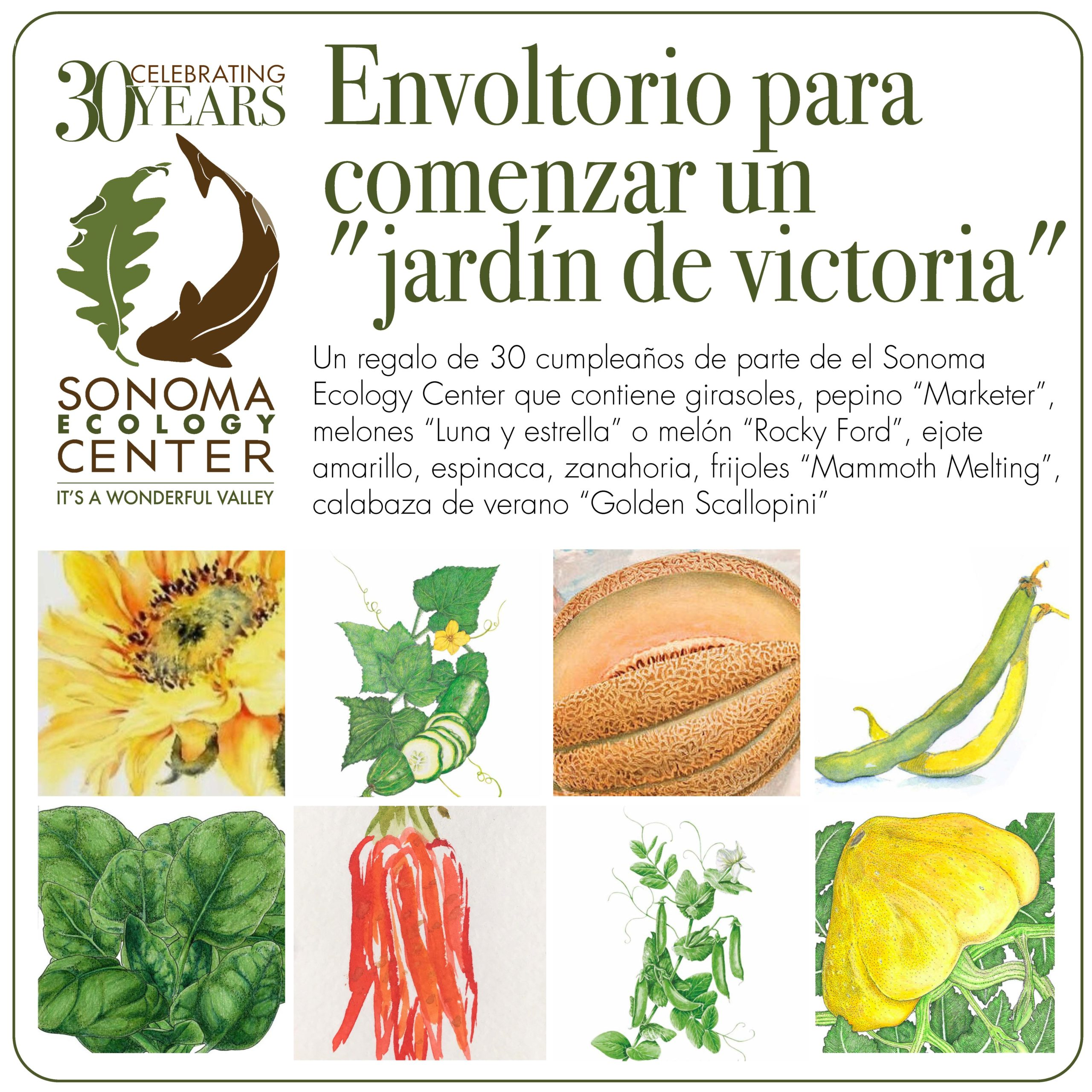 Celebrate Our 30th Anniversary With a Gift of Sonoma Ecology Center Victory Gardens
