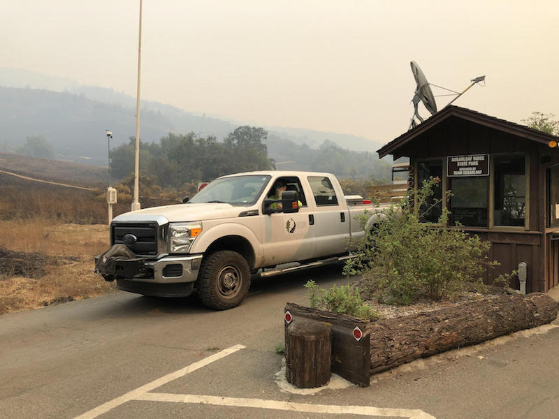 Glass Fire Frays Nerves, Blankets Valley in Smoke