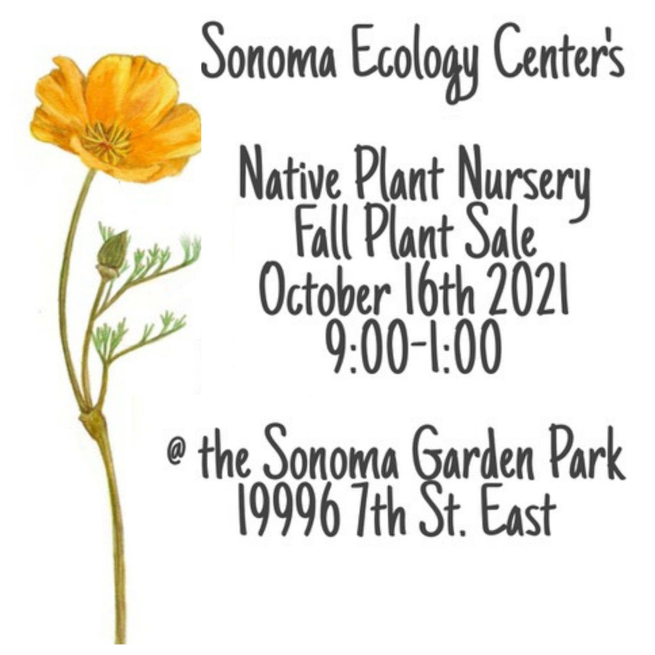 Native Plant Nursery Fall Plant Sale @ Sonoma Garden Park